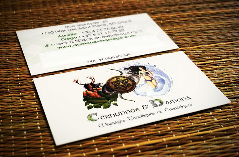 Carte de visite Cernunnos & Damona
