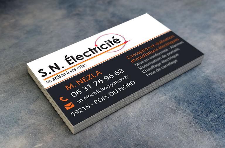 Carte de visite SN Électricité