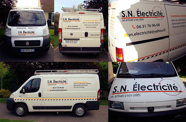 Lettrage véhicule SN-Électricité